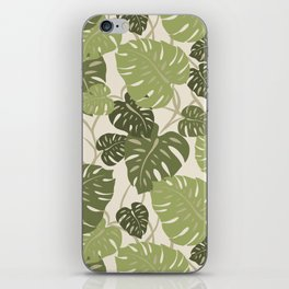Cliff Hanger Monstera Leaf Hawaiian Print    iPhone Skin