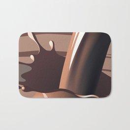 Chocolate milk splash Bath Mat