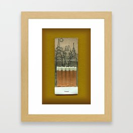 Giraffe in the City Framed Art Print