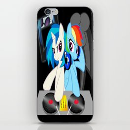 Rainbow Dash w/ Vinyl Scratch iPhone Skin