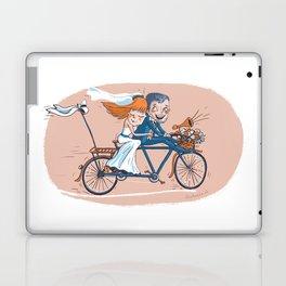 Happy Bridal Couple Laptop & iPad Skin