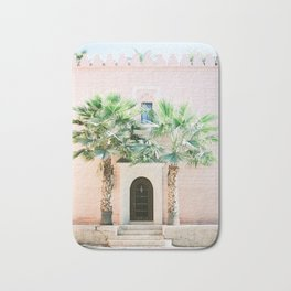 """Travel photography print """"Magical Marrakech"""" photo art made in Morocco. Pastel colored. Bath Mat"""