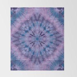 Purple Tie Dye Throw Blanket