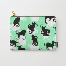 Tea Time Cat Swirls Carry-All Pouch
