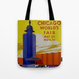 Vintage Chicago World's Fair 1933 Tote Bag