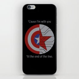 Stucky Shields (With Quote) iPhone Skin