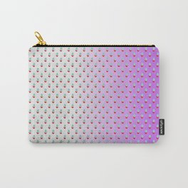 Red Blue Dots with White Purple Ombre Carry-All Pouch