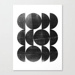 Black and White Mid Century Modern Op Art Canvas Print