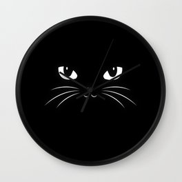 Cute Black Cat Wall Clock