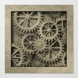 Steampunk Cogwheels Canvas Print