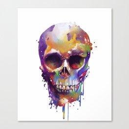 colorful skull Canvas Print