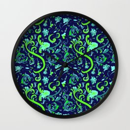 Swirly Trendy_Blue Wall Clock