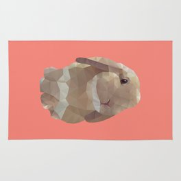 Peanut Bunny the Rabbit Polygon Art Rug