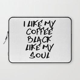 Black like my soul Laptop Sleeve