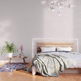 Light Soft Pastel Pink and White Mattress Ticking Wallpaper