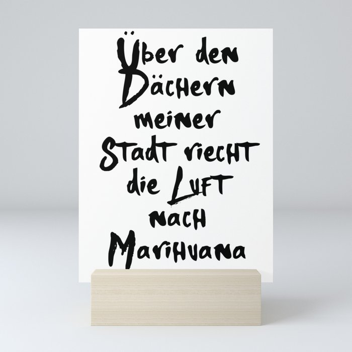 PALMEN AUS PLASTIK 187 MUSIK LYRIC TEXT Mini Art Print