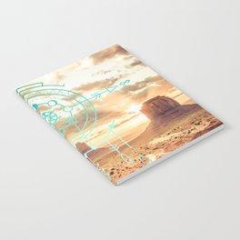 Mandala Desert Dawn Notebook