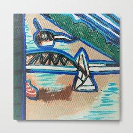 Brisbane River Painting Metal Print