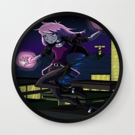Jinx in Action Wall Clock