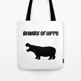 Beware of Hippo Tote Bag