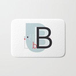 B b Bath Mat