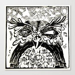 Shifty Owl Canvas Print