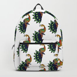 Coy peacock Backpack