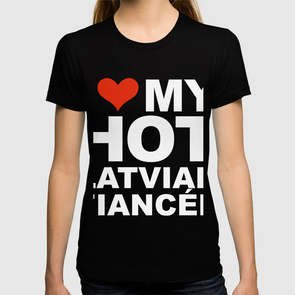 I Love Heart Latvia Ladies T-Shirt