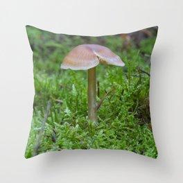 Tiny Fungi. Throw Pillow
