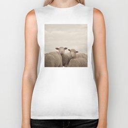 Smiling Sheep  Biker Tank