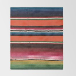 BEAUTIFUL MEXICAN SERAPE Throw Blanket