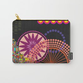 Neon Patternity Carry-All Pouch