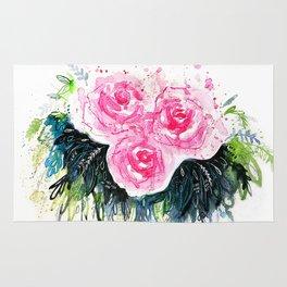 Burst Roses Rug