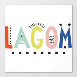 Lagom colors Canvas Print