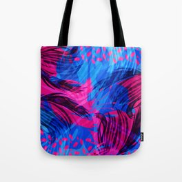 Going for an Abstract Swim Tote Bag