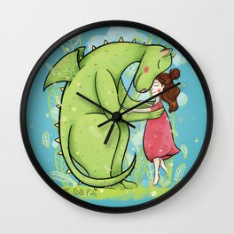The dragon and the princess Wall Clock