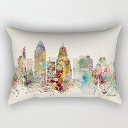 cincinnati skyline Rectangular Pillow
