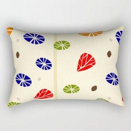 Floral Design in Retro Style Rectangular Pillow
