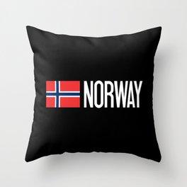 Norway: Norwegian Flag & Norway Throw Pillow