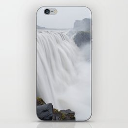 The greatest waterfall in Europe iPhone Skin
