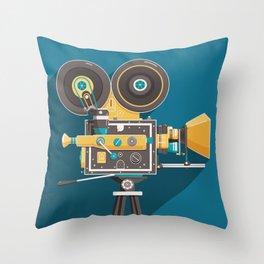 CINE: Blue Throw Pillow