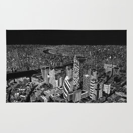 London in BW Rug