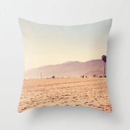 Vintage Santa Monica Throw Pillow