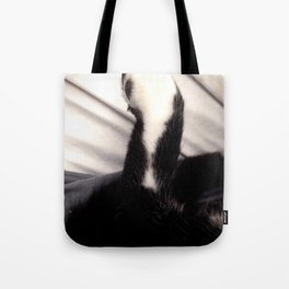Black and white Cat Paw Tote Bag