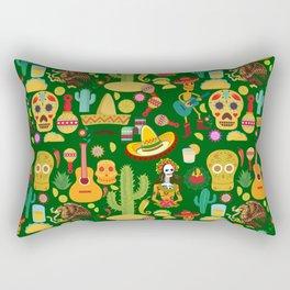 Fiesta Time! Mexican Icons Rectangular Pillow
