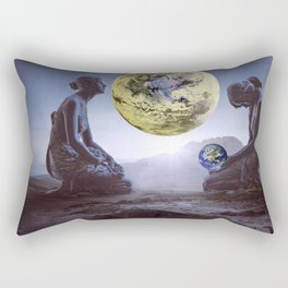 The World is in Our Hands Rectangular Pillow