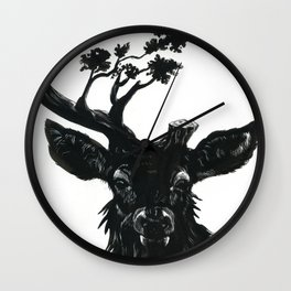 Fading Forests Wall Clock