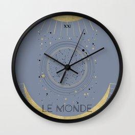 The World or Le Monde Tarot Wall Clock
