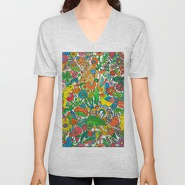 Tiny world Unisex V-Neck