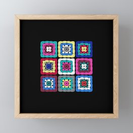 Granny Square Framed Mini Art Print